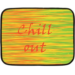 Chill Out Double Sided Fleece Blanket (mini)  by Valentinaart