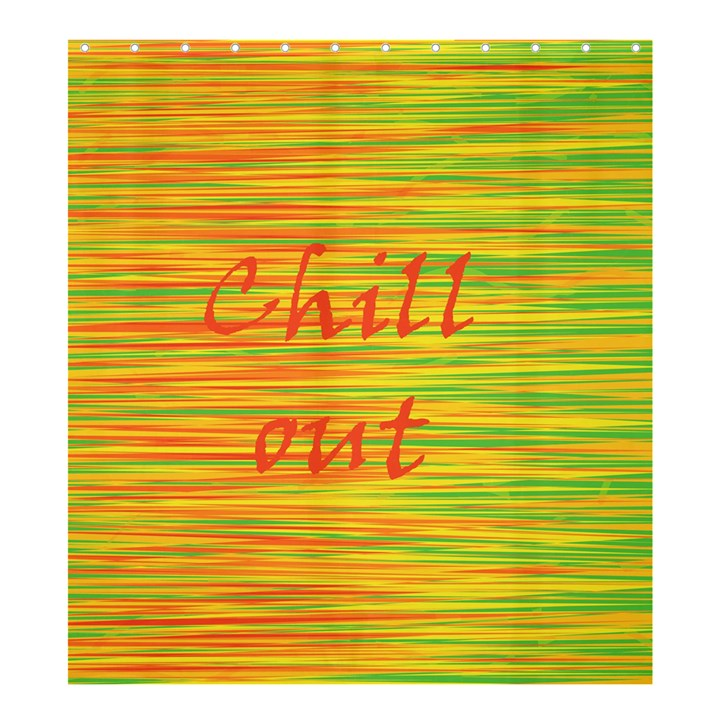 Chill out Shower Curtain 66  x 72  (Large)