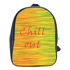 Chill Out School Bags(large)  by Valentinaart