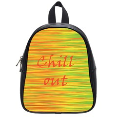 Chill Out School Bags (small)  by Valentinaart