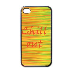 Chill Out Apple Iphone 4 Case (black) by Valentinaart