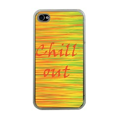 Chill Out Apple Iphone 4 Case (clear) by Valentinaart