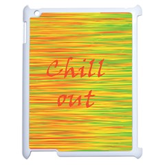Chill Out Apple Ipad 2 Case (white) by Valentinaart