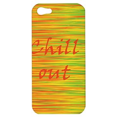 Chill Out Apple Iphone 5 Hardshell Case by Valentinaart