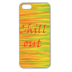 Chill Out Apple Seamless Iphone 5 Case (clear) by Valentinaart