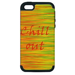 Chill Out Apple Iphone 5 Hardshell Case (pc+silicone) by Valentinaart