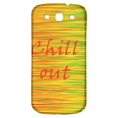 Chill Out Samsung Galaxy S3 S Iii Classic Hardshell Back Case by Valentinaart