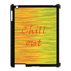 Chill Out Apple Ipad 3/4 Case (black) by Valentinaart