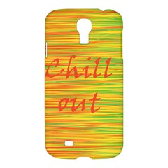 Chill Out Samsung Galaxy S4 I9500/i9505 Hardshell Case by Valentinaart