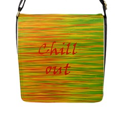 Chill Out Flap Messenger Bag (l)  by Valentinaart