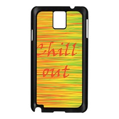 Chill Out Samsung Galaxy Note 3 N9005 Case (black) by Valentinaart