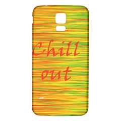 Chill Out Samsung Galaxy S5 Back Case (white) by Valentinaart