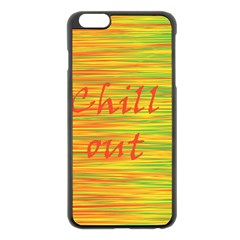 Chill Out Apple Iphone 6 Plus/6s Plus Black Enamel Case by Valentinaart