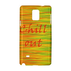 Chill Out Samsung Galaxy Note 4 Hardshell Case by Valentinaart