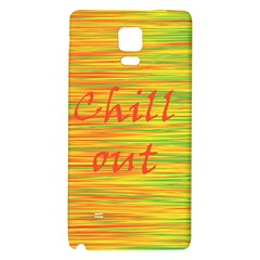 Chill Out Galaxy Note 4 Back Case by Valentinaart