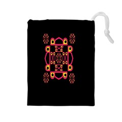 LETTER R Drawstring Pouches (Large)