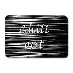 Black An White  chill Out  Plate Mats by Valentinaart