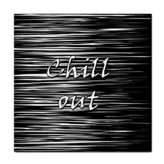 Black An White  chill Out  Face Towel by Valentinaart