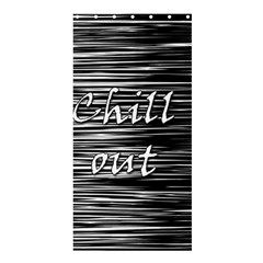Black An White  chill Out  Shower Curtain 36  X 72  (stall)  by Valentinaart