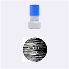 Black An White  chill Out  Rubber Round Stamps (small) by Valentinaart