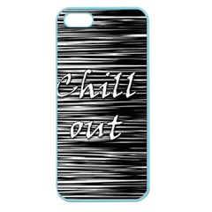 Black An White  chill Out  Apple Seamless Iphone 5 Case (color) by Valentinaart