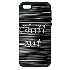 Black An White  chill Out  Apple Iphone 5 Hardshell Case (pc+silicone) by Valentinaart