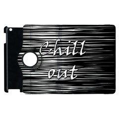 Black An White  chill Out  Apple Ipad 2 Flip 360 Case by Valentinaart