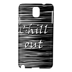 Black An White  chill Out  Samsung Galaxy Note 3 N9005 Hardshell Case by Valentinaart