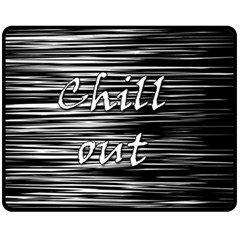 Black An White  chill Out  Double Sided Fleece Blanket (medium)  by Valentinaart