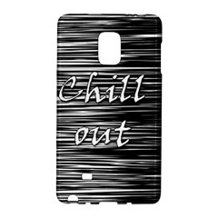 Black An White  chill Out  Galaxy Note Edge by Valentinaart