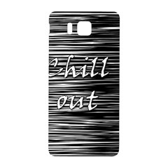 Black An White  chill Out  Samsung Galaxy Alpha Hardshell Back Case by Valentinaart