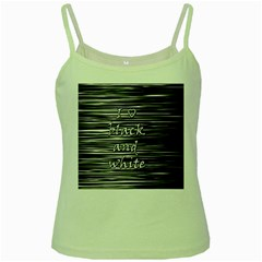 I love black and white Green Spaghetti Tank