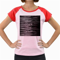 I love black and white Women s Cap Sleeve T-Shirt