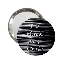 I love black and white 2.25  Handbag Mirrors