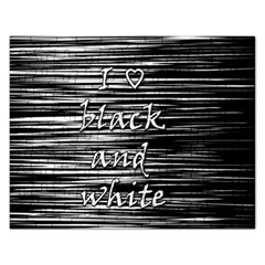 I love black and white Rectangular Jigsaw Puzzl