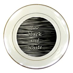 I love black and white Porcelain Plates