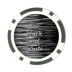 I love black and white Poker Chip Card Guards