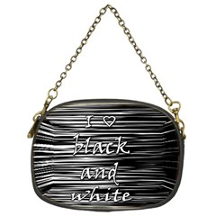 I love black and white Chain Purses (One Side)