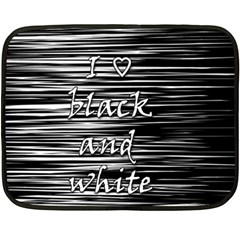 I love black and white Fleece Blanket (Mini)
