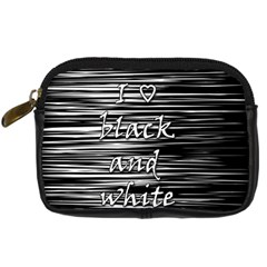 I love black and white Digital Camera Cases