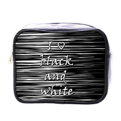 I love black and white Mini Toiletries Bags