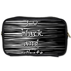 I love black and white Toiletries Bags