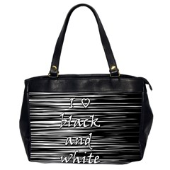 I love black and white Office Handbags (2 Sides)