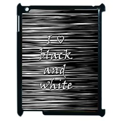 I love black and white Apple iPad 2 Case (Black)