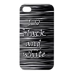 I love black and white Apple iPhone 4/4S Hardshell Case