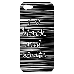 I love black and white Apple iPhone 5 Hardshell Case