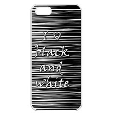 I love black and white Apple iPhone 5 Seamless Case (White)