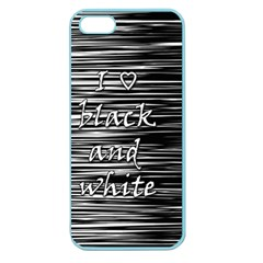 I love black and white Apple Seamless iPhone 5 Case (Color)