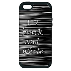 I love black and white Apple iPhone 5 Hardshell Case (PC+Silicone)