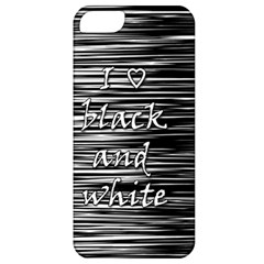 I love black and white Apple iPhone 5 Classic Hardshell Case